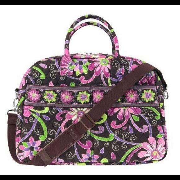 Vera Bradley Weekender Purple Punch. M 5a3c771931a376e784008b49 ee64eca081a13